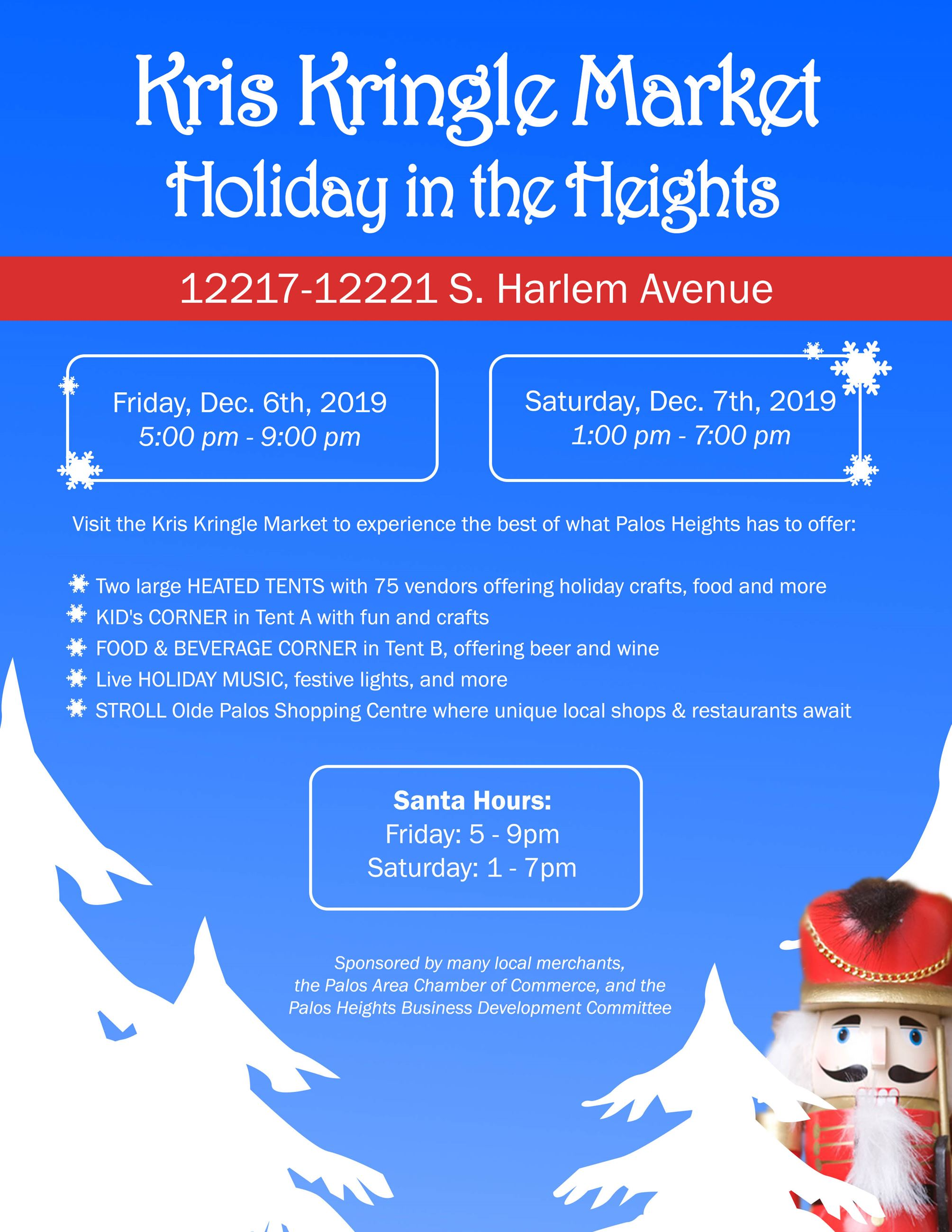 Kris Kringle Market Hours and Information