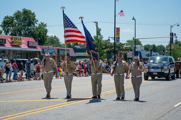 Veterans Marching in Independance Day Parade