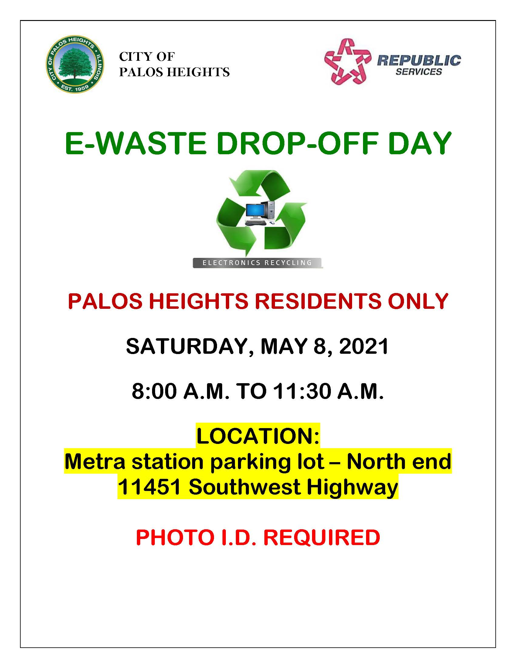 E-Waste Dropoff Day 5-8-21